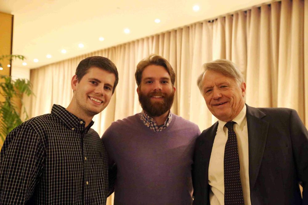 Omega Brothers Mitch Hulderman '12 Dan Cartwright '11 Robert Zedelis '62 at Theta Chi Alumni Reception in San Francisco - Nov. 21, 2015