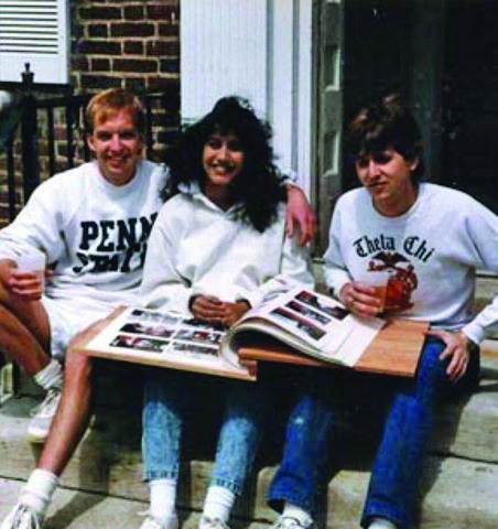 Founder's Day - L to R: Steve Dodge, Shefali Bhuva and Stephen Martin - 1989