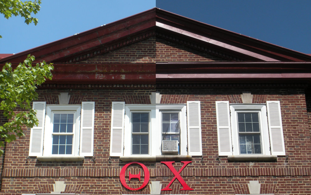 During and After exterior trim repaired and painted
