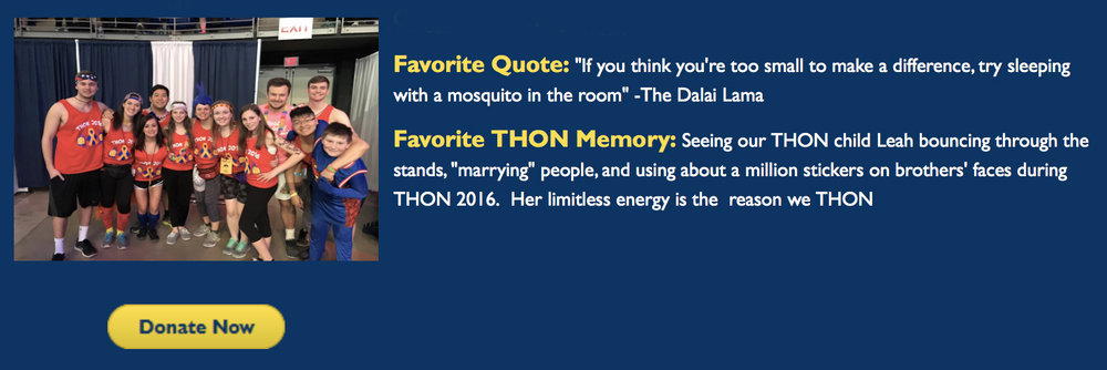 CLICK HERE TO MAKE A DONATION TOWARDS THON