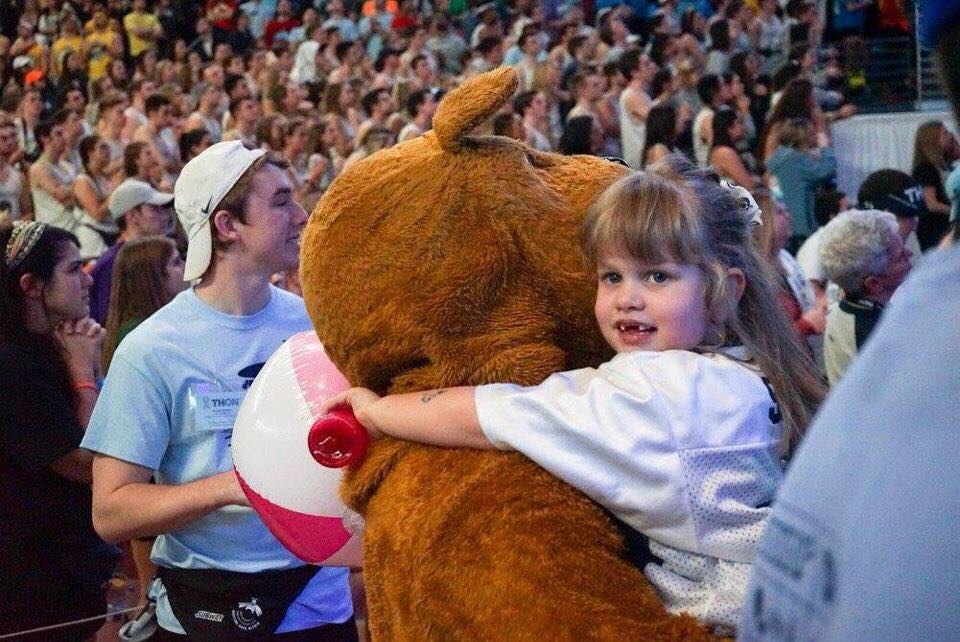 Leah Fait and The Nittany Lion at THON 2017
