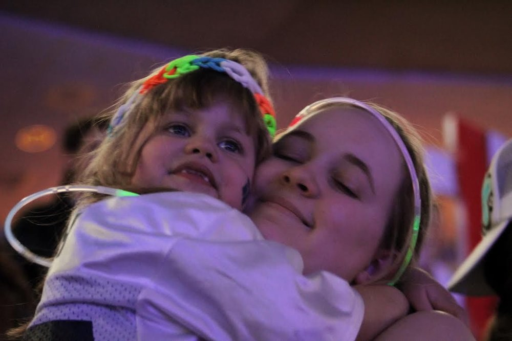 Leah Fait and Tapestry Sister at THON 2017