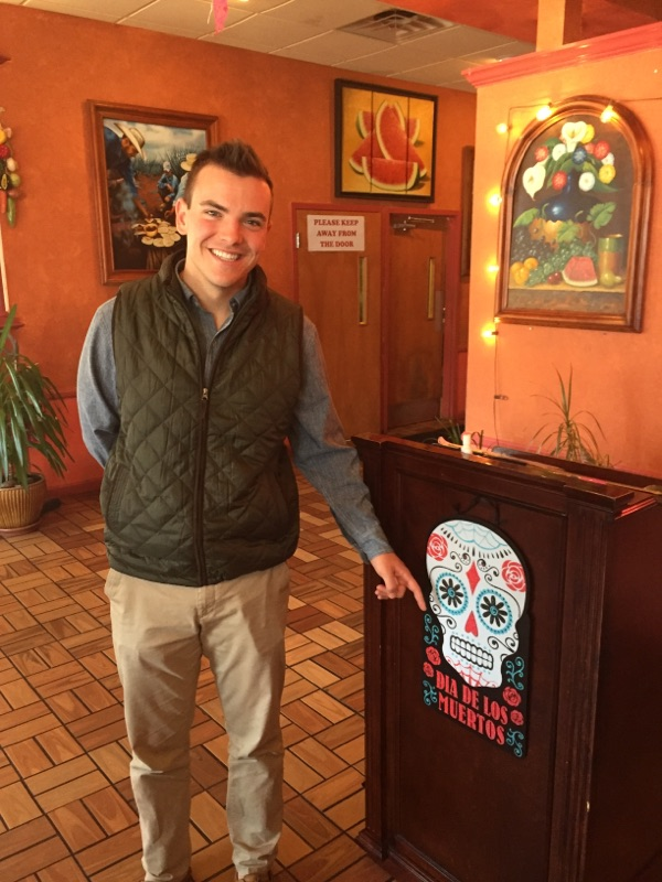 Frank Donato points out the upcoming holiday Dia De Los Muertos - Fall 2017