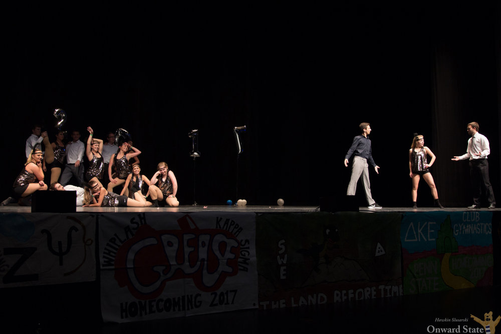 Theta Chi and Vole Perform at Eisenhower Auditorium during For The Glory Talent Show