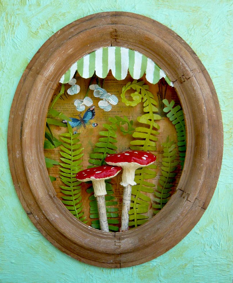 Fancy Mushroom Diorama