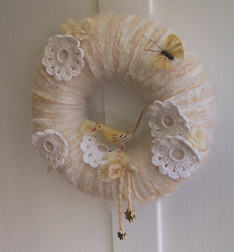 Baby Bird Yarn Wreath