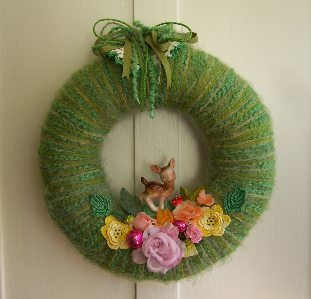 A Dear Yarn Wreath