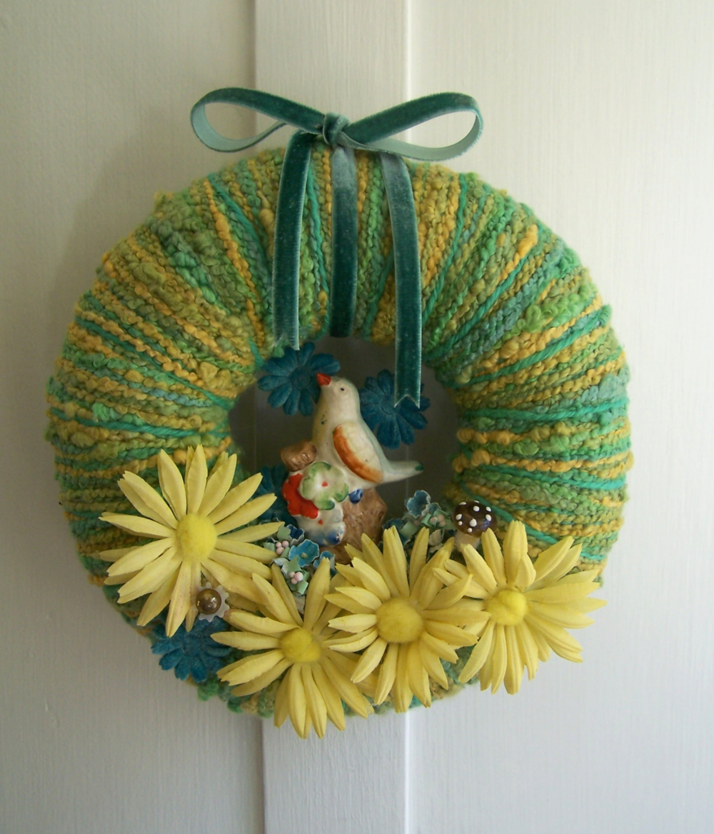 Little Bird & Yarn Wreath
