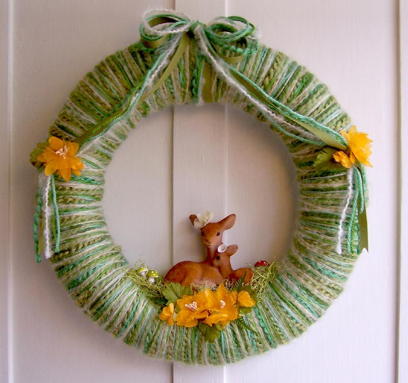 Pretty Dears Yarn Wreath