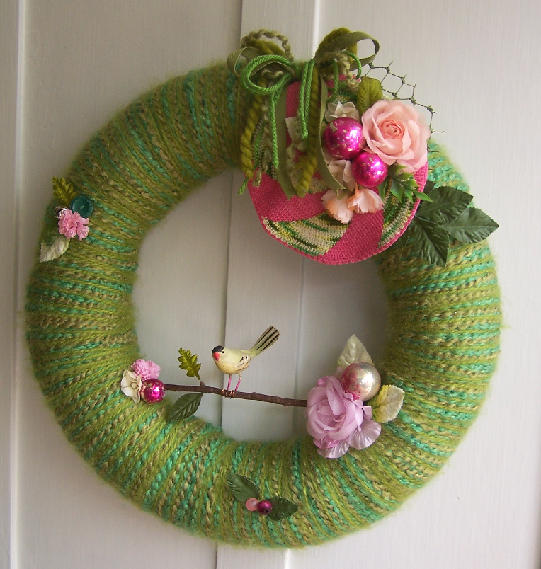 Branch & Yarn Wreath