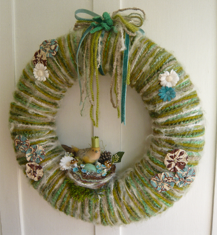 Bird Queen & Yarn Wreath