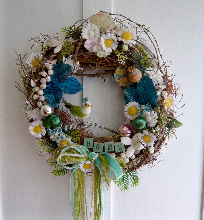 Home Bird Crazy Wreath