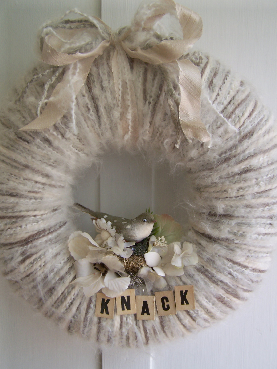 Knack Yarn Wreath, gift for Barb Blair