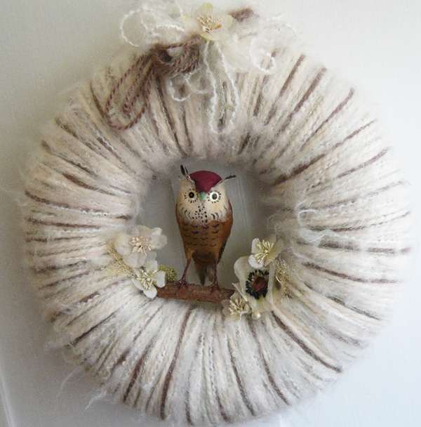 Owl & Yarn Wreath