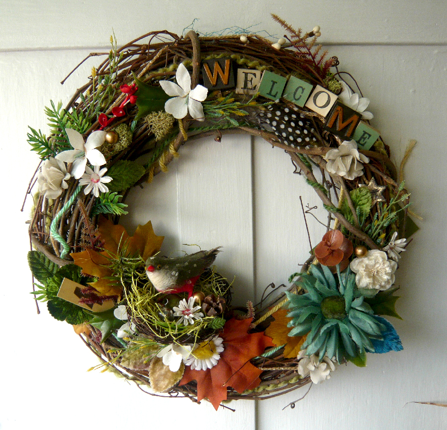 Welcome Bird Wreath