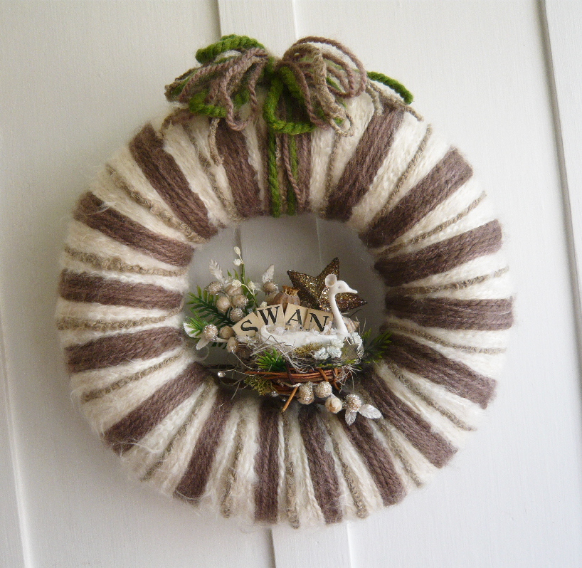 Swan & Yarn Wreath