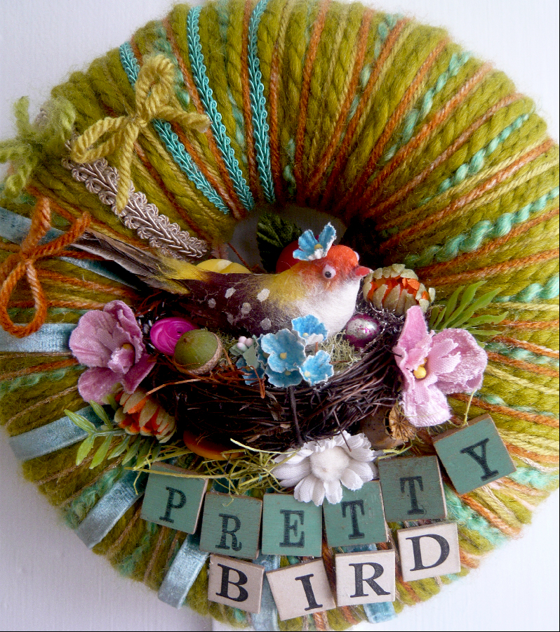Pretty Bird & Yarn Wreath