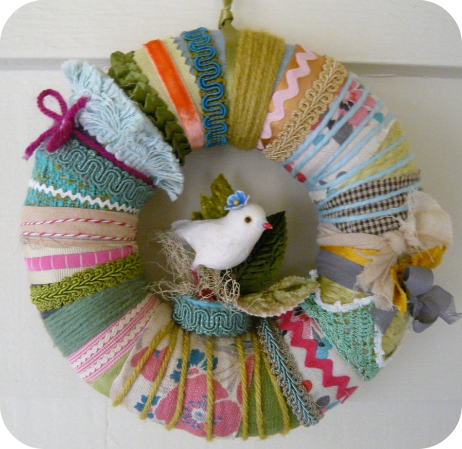 Spring Bird Crazy Wreath