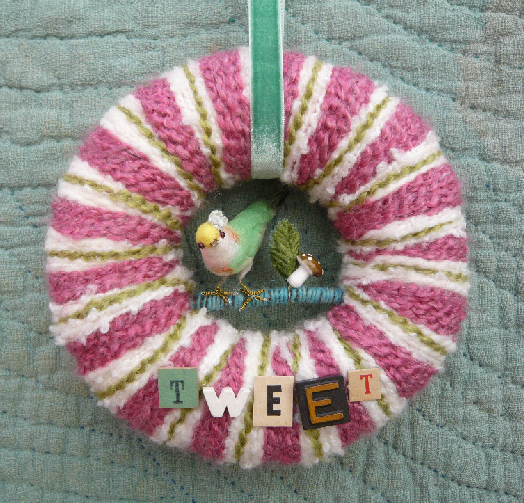 Tweet Bird & Yarn Wreath