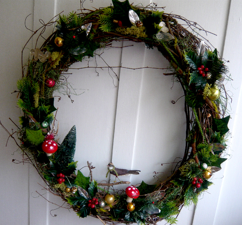 Holiday Twig & Bird Wreath