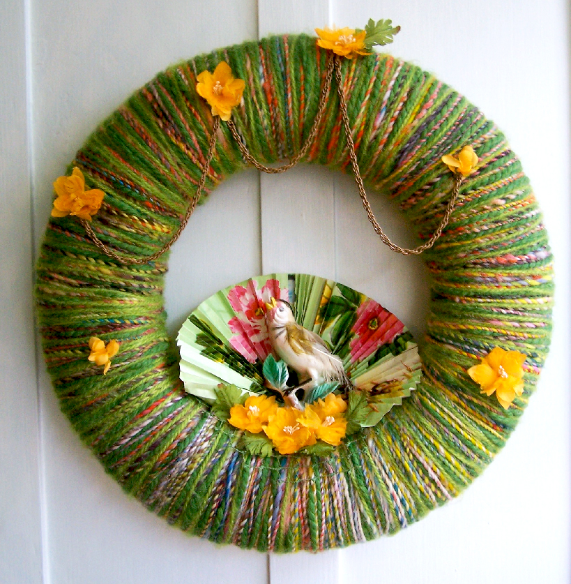 Songbird Yarn Wreath