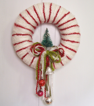 Peppermint Stripe Wreath
