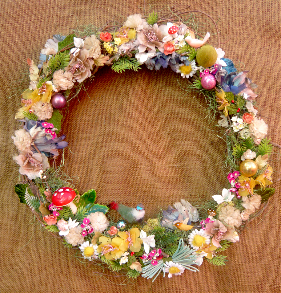 Twig & Millinery Bird Wreath