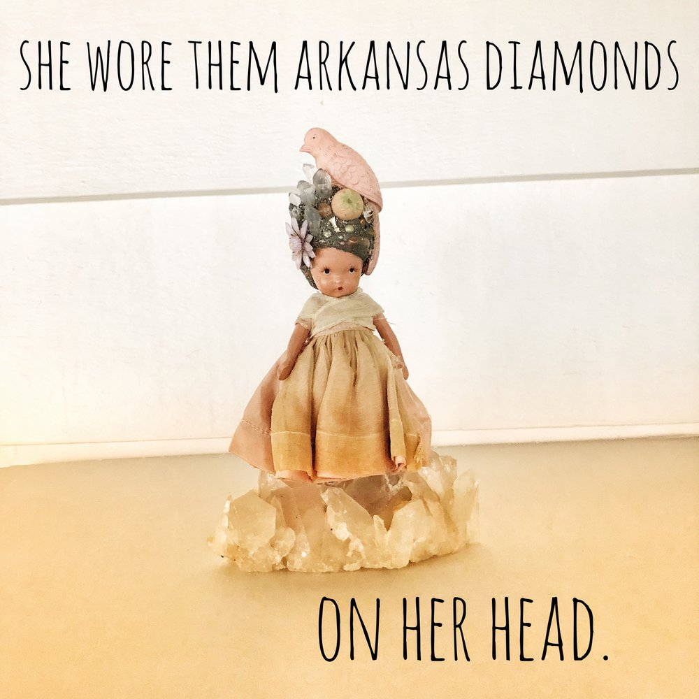 She Wore Them Arkansas Diamonds on her Head