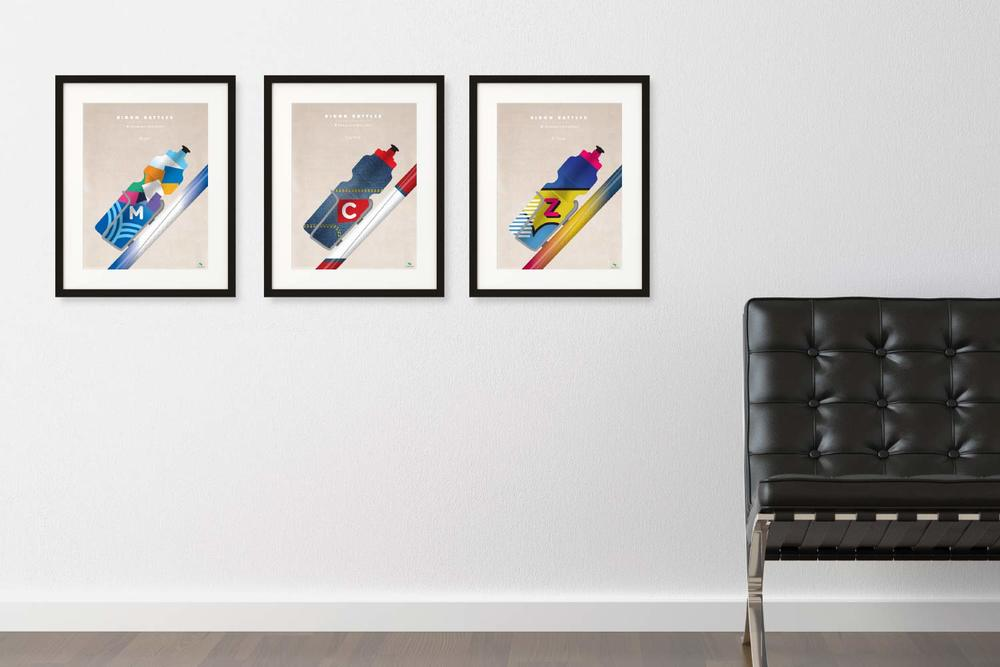 Bidon Battles Print Series by veloposters.com