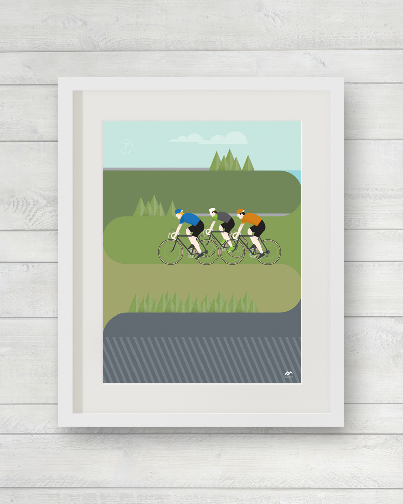 Tour Down Under Corkscrew Road print