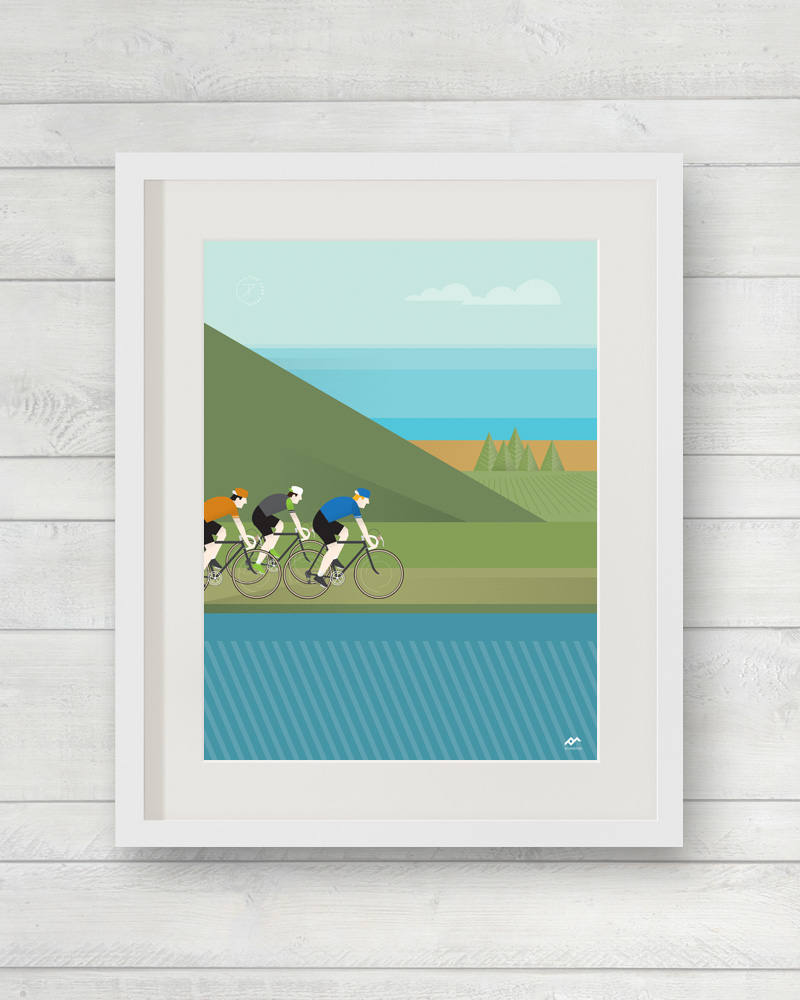 Tour Down Under Willunga Hill print