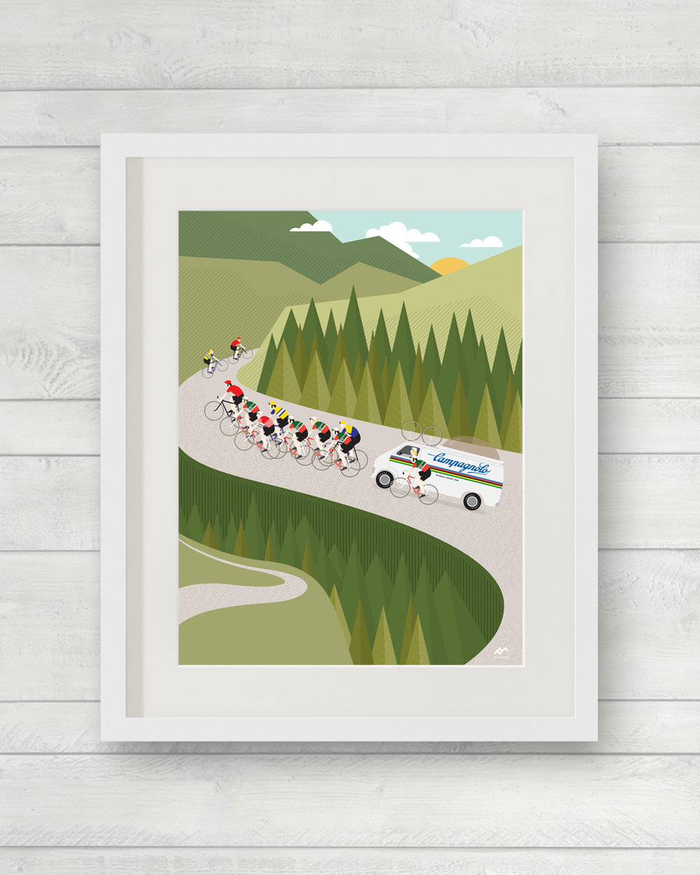 Mountains - The Climb | ©veloposters