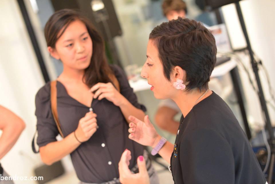 Fawna and artist Carolyn Becker