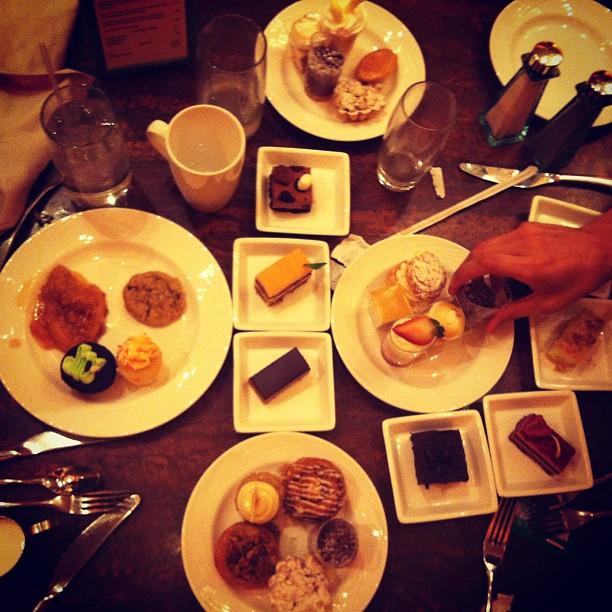 Dessert time at the Wynn brunch buffet… One of each please.  (at Wynn Las Vegas)