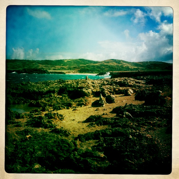 The rough side of Aruba.
