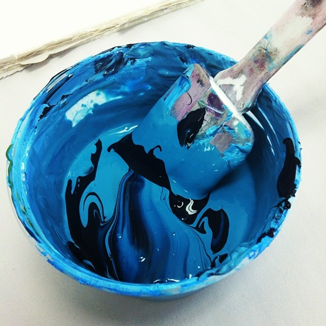 Mixing ink #studio #screenprinting