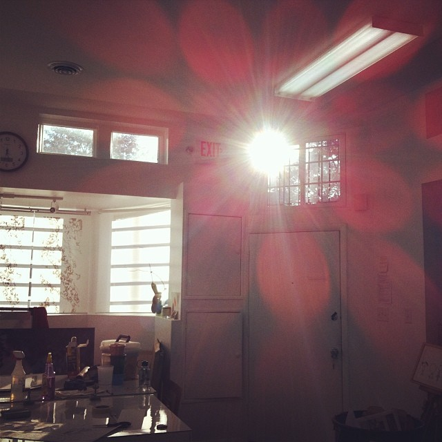 Sun in the studio