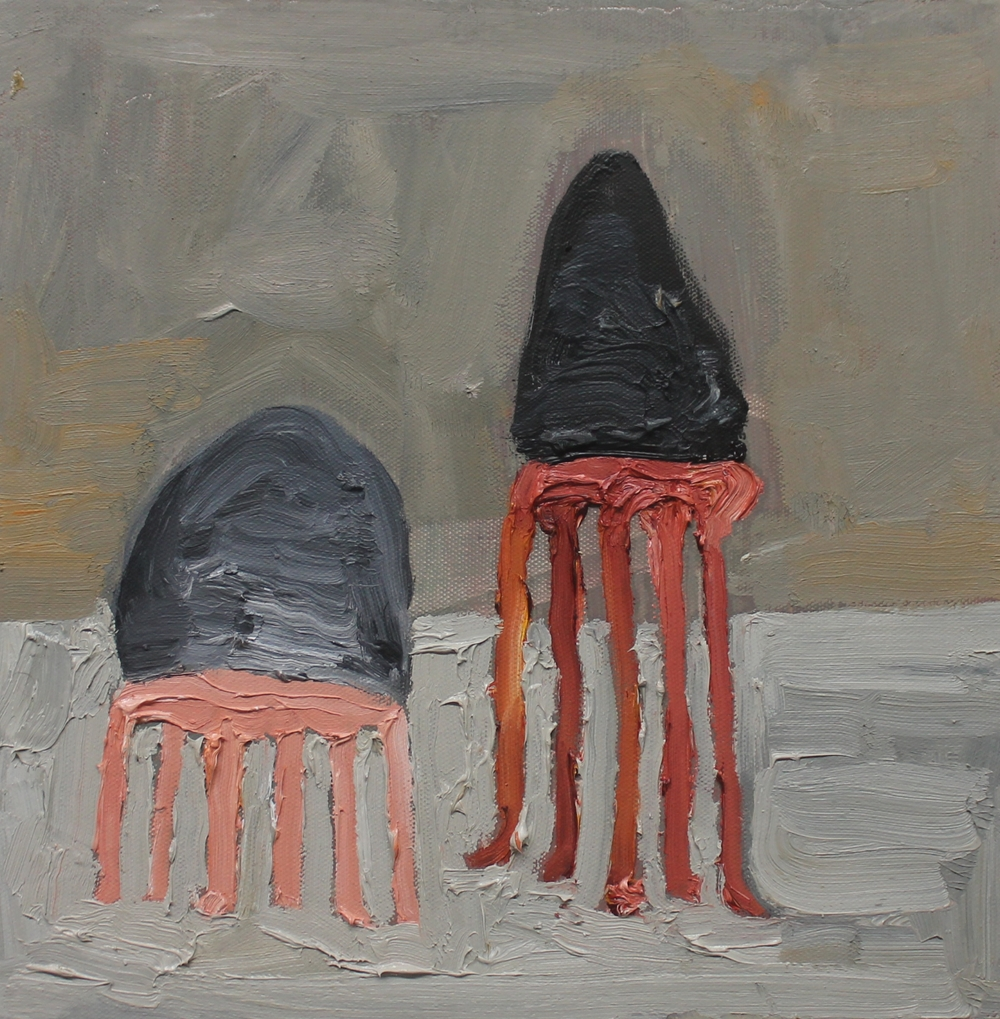 Mollusca  (Spiders) , 2013, oil on canvas, 12 x 12 inches