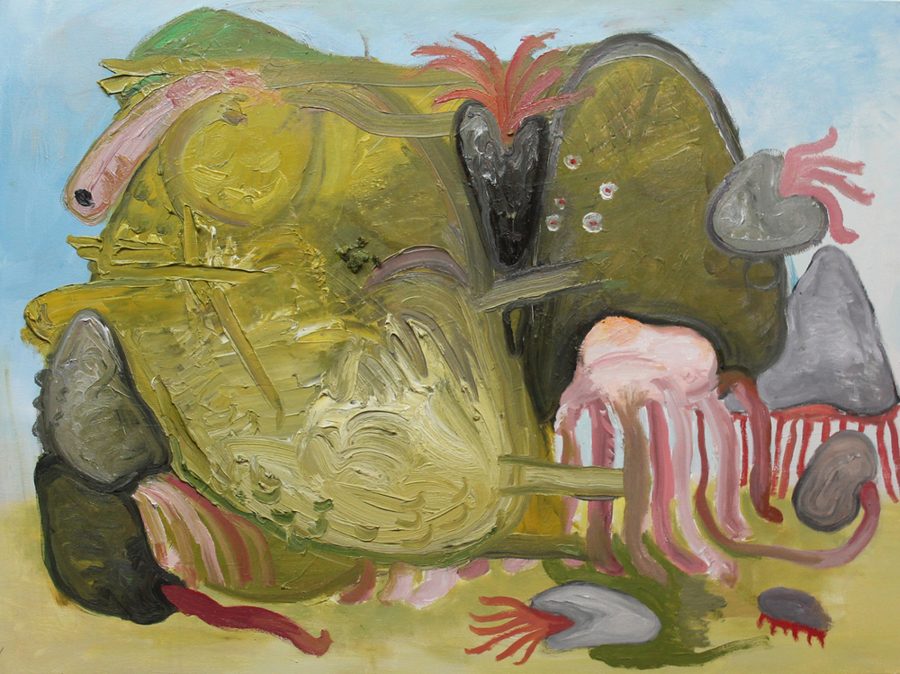 Mutant , 2013, oil on canvas, 30 x 40 inches