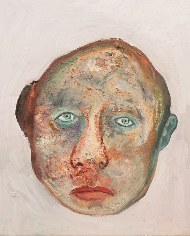 Head , 2011, oil on canvas, 18 x 24 inches