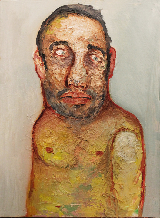 Self-portrait at 24 , 2011, oil on canvas, 18 x 25 inches