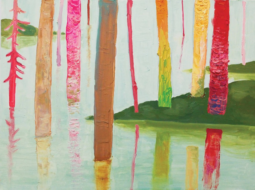 Forest , 2012, oil and acrylic on canvas, 30 x 40 inches