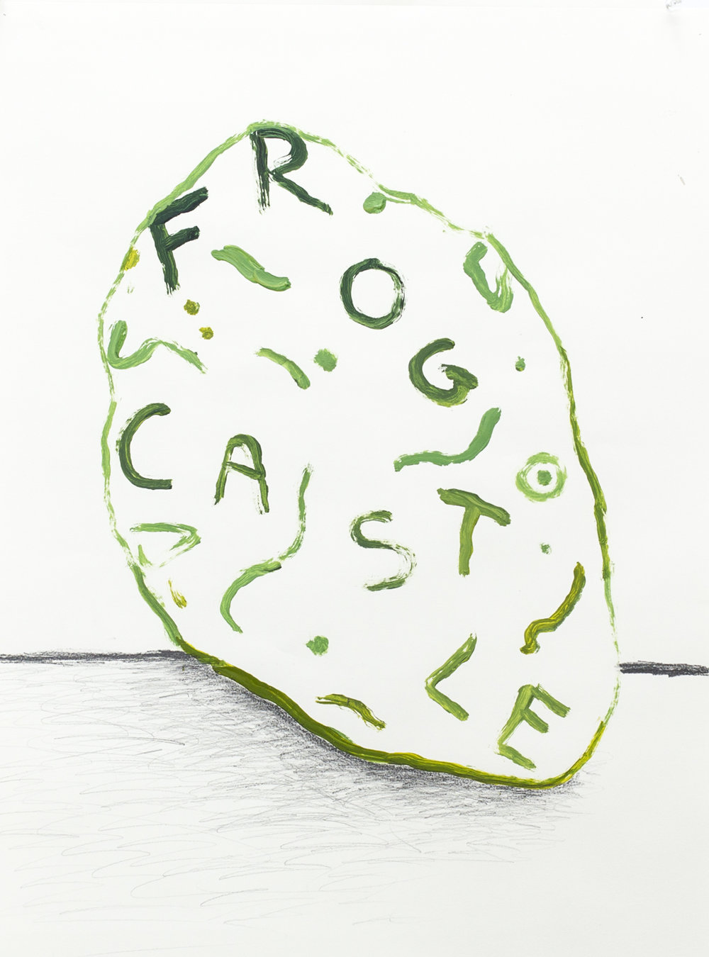 Frog Castle, 2017, acrylic and graphite on paper. 24 x 20 inches