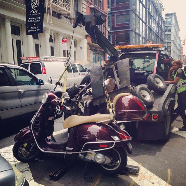 #Bikes   Vespas #nyc  http://kck.st/T2jnbR