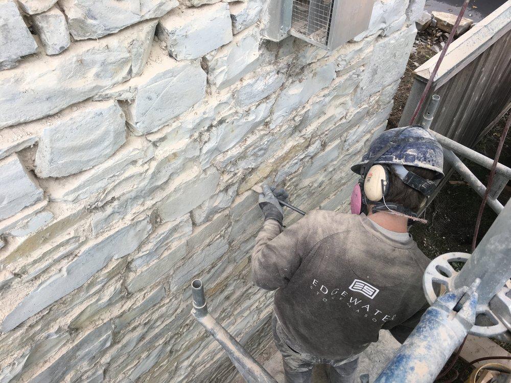 Repointing Limestone