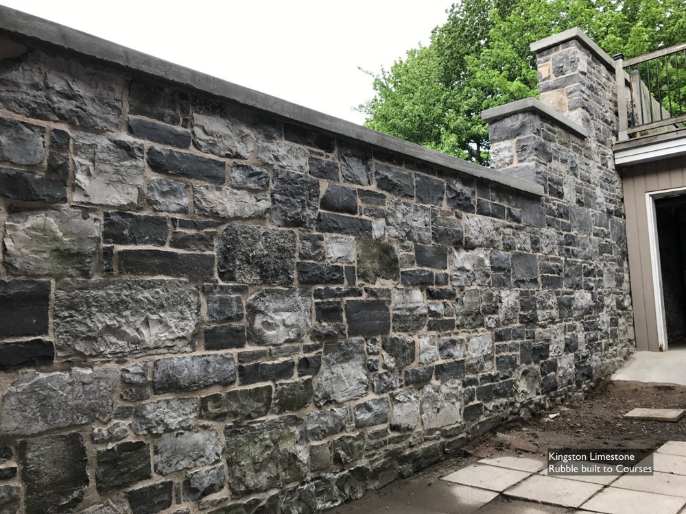 rubble-built-to-courses-limestone-wall