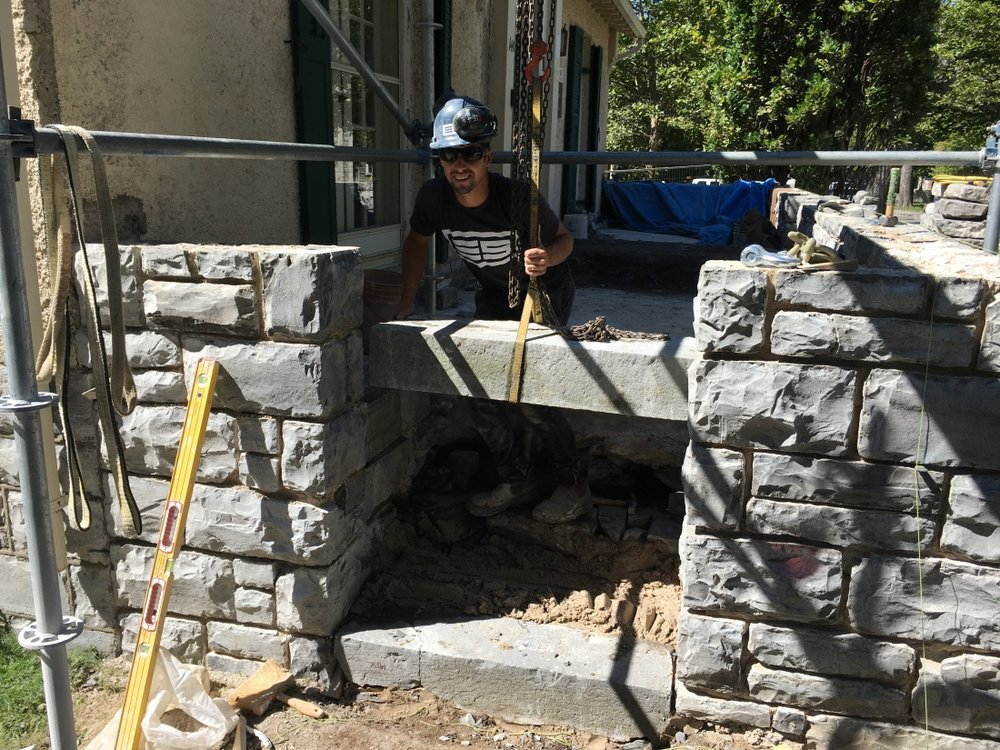 Rebuilding-stone-wall