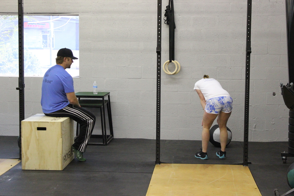 One on one motivation for Steffi by Coach Miller.  Excellent push Steffi!
