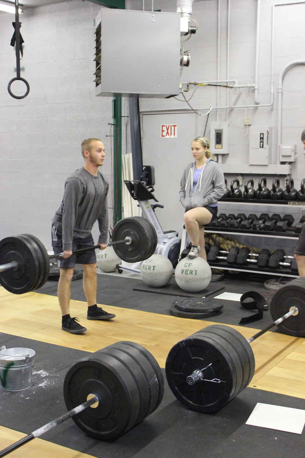 Coach Liz is helping Levi set up for success on the deadlift
