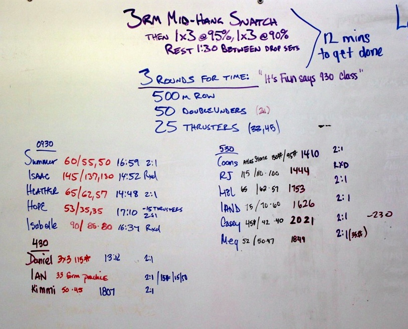 WOD Whiteboard: 5/21/2014